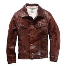 Load image into Gallery viewer, good goat leather jacket genuine goat leather jacket