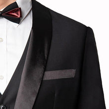 Load image into Gallery viewer, Men's 3-Piece Tuxedo Slim Fit Shawl Lapel Jacket+Vest+Pants Groom Suit Stage Show Singer Musician Business Party Prom
