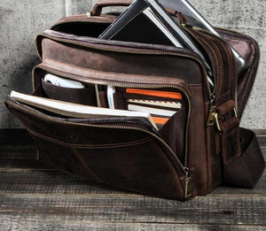 100% Genuine Leather Crossbody Bags for Men Casual Business Male Messenger Bag Brand High Quality Tote Handbags