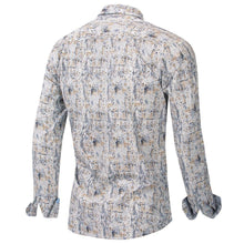 Load image into Gallery viewer, New Fashion Print Shirt Men Long Sleeve 100% Cotton Casual Slim Fit Floral Dress Shirt Male Streetwear - moonaro