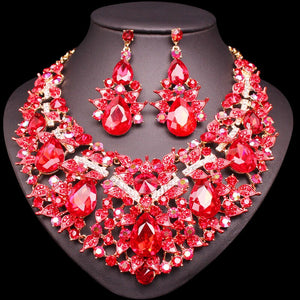 Gorgeous Necklace Earrings Sets Crystal Jewellery Bridal Jewelry Sets Party Wedding Costume Accessories Gifts for Women