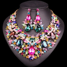 Load image into Gallery viewer, Gorgeous Necklace Earrings Sets Crystal Jewellery Bridal Jewelry Sets Party Wedding Costume Accessories Gifts for Women