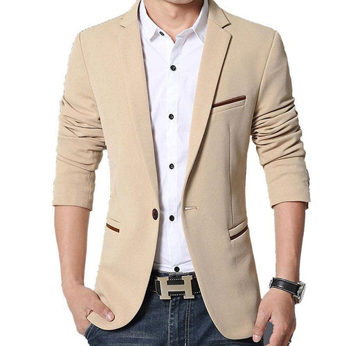 Men's casual Blazers Fashion Slim Fat Suit Jacket Men Blazer Men Casual Coat Jacket Blazer