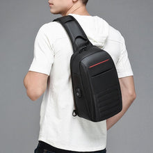 Load image into Gallery viewer, Multifunction Shoulder Bag Men Business Crossbody Bags USB Charging Design Chest Bag Waterproof Messenger Bag Male
