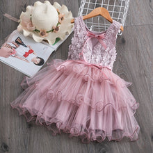 Load image into Gallery viewer, Baby Girls Clothes Little Princess Lace Cake Tutu Sashes Dress Summer Clothes Kids Birthday Pink Vestido Infantil Menina 3 5 8 Y