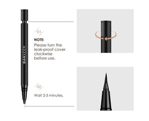 Waterproof Eyeliner Long Lasting Eye Liner Pencil Quick Dry Black Brown ink Eyeliner Felt-Tip Pen Smudge-Proof Cosmetic