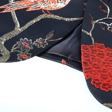 Load image into Gallery viewer, Red Gold Blue Green Brocade Embroidery Floral Birds Pattern Slim Fit Blazer Designs Men Suit Jacket Stage Singer Wear
