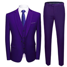 Load image into Gallery viewer, 3 Piece Wedding Suits For Men Slim Fit Men's Suits Formal Burgundy Green Purple Yellow Red White Man Suit 5XL 6XL