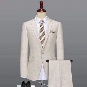 men suit wedding groom men's suits with pants light yellow thin business man formal man suits set 6xl 58 plus size