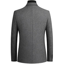 Load image into Gallery viewer, Men Wool Blends Coat Solid Color High Quality Men's Wool Blazer Luxurious Wool Blends Jacket Male