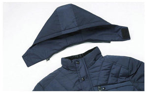 Winter Parka Jacket Men -20 Degree Thicken Warm Parkas Hooded Coat Fleece Man's Jackets Outwear