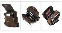 "Load image into Gallery viewer, Crazy Horse Leather Men Messenger Bag Vintage Man Hand Bags for 7.9"" iPad High Quality Shoulder Bags Tote Crossbody Bag"