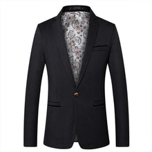 Load image into Gallery viewer, Men's Fashion Blazer British's Style Casual Slim Fit Coat Jacket Male Blazers Men Coat