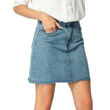 Load image into Gallery viewer, Denim Skirt Jeans Skirt Sexy Mini Women Skirts Women's Clothing