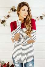Load image into Gallery viewer, Winter Fashion Striped MIX color long sleeve nursing top breastfeeding clothing for pregnant women