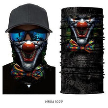 Load image into Gallery viewer, 3D Seamless Skull Balaclava Magic Neck Face Mask Motorcycle Racing Ghost Skeleton Helmet Shield Anti-UV Scarf Sun Women Mens ATV