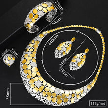 Load image into Gallery viewer, Bling Bling Sequins Luxury Jewelry Sets For Women Cubic Zircon Wedding Bridal Jewelry Set