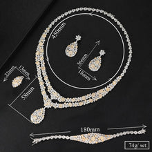 Load image into Gallery viewer, 4PCS Trendy Charms  Jewelry Sets For Women Bridal Wedding Cubic Zircon Luxury Statement Jewelry Sets - moonaro
