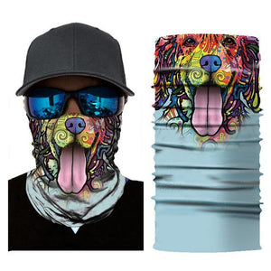 Motorcycle Balaclava Face Mask Men's Outdoor Sports Windproof head Mask animal pattern motocross face mask motorcycle