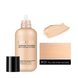 Liquid Foundation Cream Waterproof Concealer Whitening BB Cream Primer Easy to Wear Base Face Makeup For Women