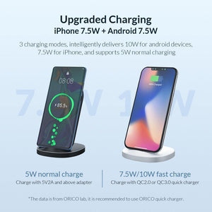 Fast Wireless Charging Dock Station Qi Wireless Charger for iPhone X XS 8 Samsung Phone Charger With Receiver for Xiaomi - moonaro