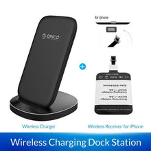 Load image into Gallery viewer, Fast Wireless Charging Dock Station Qi Wireless Charger for iPhone X XS 8 Samsung Phone Charger With Receiver for Xiaomi - moonaro