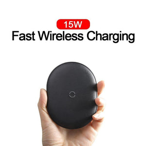 15W Qi Wireless Charger For iPhone 11 Pro Max Airpods Fast Wireless Charging Induction Charger Pad For Samsung Xiaomi Mi