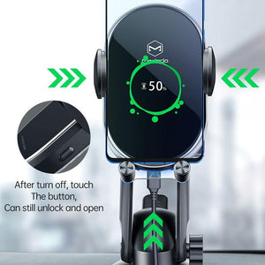 15W Fast Qi Car Phone Holder Wireless Charger Automatic Gravity Air Vent Clip Stand For iPhone 11 X Huawei xiaomi in Car