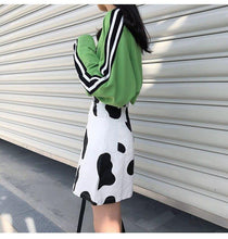Load image into Gallery viewer, Black White High Waist Fashion Casual Loose Basic A-line Simple College Wind Mini Women Skirts