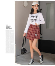Load image into Gallery viewer, High Waist Mini Skirt Women 3 Colors Woolen Plaid Skirts With Belt High Quality