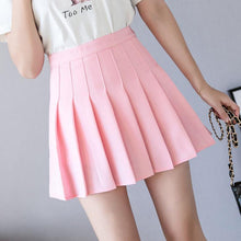 Load image into Gallery viewer, High Waist A Line Pleated Mini Skirt For Women Spring Summer Skirts Pink Black Sky Blue And White Cute Skirt High Quality