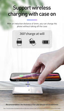Load image into Gallery viewer, 15W Qi Wireless Charger For iPhone X Xs Max Ultra Slim Fast Wirless Wireless Charging Pad For Samsung S10 S9 Xiaomi Mi 9
