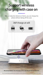15W Qi Wireless Charger For iPhone X Xs Max Ultra Slim Fast Wirless Wireless Charging Pad For Samsung S10 S9 Xiaomi Mi 9