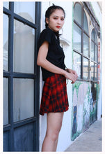 Load image into Gallery viewer, Casual Style Party Pleated Skirt Summer New High Waist Slim A Word Skirt Girl Red Plaid Skirt