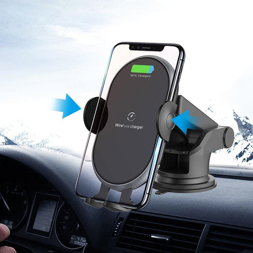 10W Qi Wireless Car Charger for Phone Samsaung Fast Wireless Charger Car Phone Holder in air vent and Suction Cup
