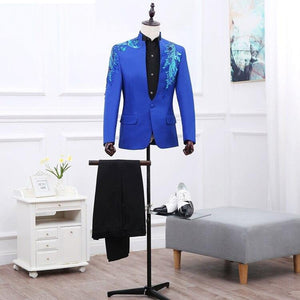 Casual Party suits for men Formal Wear tuxedos Suits & Blazer men stage 2 pieces Jacket+pants slim fit casual Suits