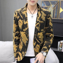Load image into Gallery viewer, Camouflage Blazer Jackets Wedding Coat for Men Clothes One Button Casual Men Blazer Slim fit New Coat