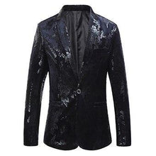 Load image into Gallery viewer, Men's blazer jacket Fashion Slim fit Flower Male Coat Casual floral Blazers Men BLACK Jacket Coat
