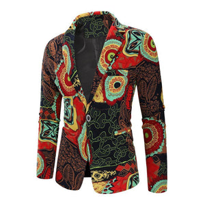 Dress Coat Jacket Floral Cotton Blazers Men Clothes Slim fit Jacket Men Blazers New Fashion