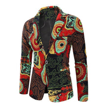 Load image into Gallery viewer, Dress Coat Jacket Floral Cotton Blazers Men Clothes Slim fit Jacket Men Blazers New Fashion