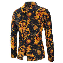 Load image into Gallery viewer, Dress Coat Jacket Casual One button Cotton and Linen Men's Coat Blazers Floral Blazer For Men