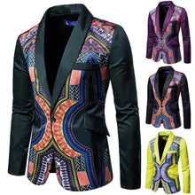 Load image into Gallery viewer, Men's Blazers Floral Designs And Coat Jackets Casual Printing Men Blazer Slim Men's Coat Tuxedos Slim fit