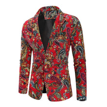 Load image into Gallery viewer, Floral Stage Mens Blazer Jacket Flower Wedding Coat for Men's Fashion Slim fit Coat Jacket