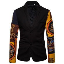 Load image into Gallery viewer, Man Blazer Casual Coat Jacket Stitching Sleeves Men's Blazer Tuxedos Floral Slim fit Men's Coat