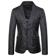 Load image into Gallery viewer, Wedding Coat for Men's Blazers and Jackets Man single-breasted Embossing Slim fit Khaki Black Coat