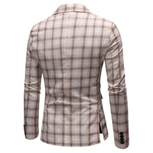 Load image into Gallery viewer, Wedding Coat for Men Casual Plaid Man Blazer Slim fit Leisure Men's clothes Blazer Jacket