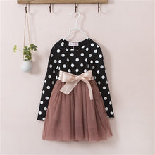 Load image into Gallery viewer, Baby Dress For Girl Long Sleeve Princess Girls Dresses Polka Dot Little Baby Birthday Party Dress Casual Kids Clothes