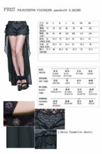 Load image into Gallery viewer, Fashion Gothic Black Sexy Shorts with Long Lace Steampunk Women Cool Shorts Personalized Trousers Skirt