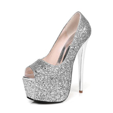 Load image into Gallery viewer, Fashion Glitter Platform Pumps Women Sexy Party Wedding Women High Heels Shoes Woman