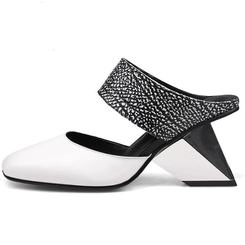 girl pumps genuine leather fashion mixed color slip on pumps women casual leisure shoes woman